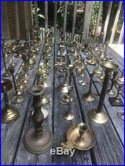 104 Brass Mixed Metal Candlestick Holder Lot Wedding Party Dinner Reception