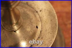16th/17th Century Pair of Hispano Flemish Brass Capstan Candleholders