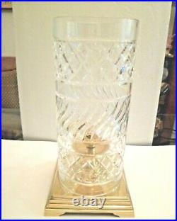 17 Elegant Large Antique Brass Crystal Hurricane Pillar Candle Holder