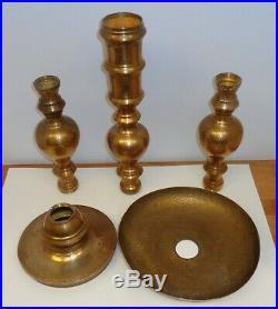 2 Brass Candlesticks 35 Tall Floor Standing Candle Holder Church Altar Temple