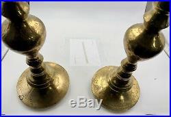 2 Brass Candlesticks 37 Tall Floor Standing Candle Holder Church Altar Temple