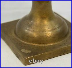 2 Hollywood Regency Chinoiseries Potted Palm Tree Urn Gilt Brass Candleholders