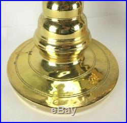 2 Large 36 Brass Floor Candlesticks Candle Holders Altar Church Temple Vintage