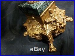 2 STUNNING Italian Vintage Brevettato Brass/Bronze Marble Cherub Candelabra
