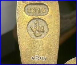 2 Virginia Metalcrafters #2016 Fleur-de-lys Brass withGlass Hurricane Wall Sconces