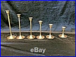 25 Brass Candlesticks Holders Wedding Christmas Crafts Patina Lot 3