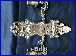 2xklavierleuchter Brass Chandelier Wall Mounted Candle Holder Light, Candlesticks