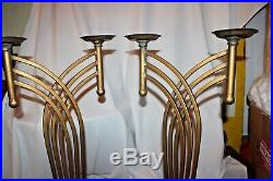 30 art deco pair candle holders truly brass finish and beautiful candelabras