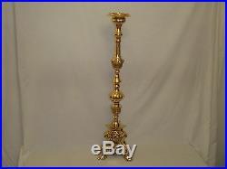 40 Italian Baroque Brass Candle Holder Stick Over 9 k Weight 101cm Tall T/light