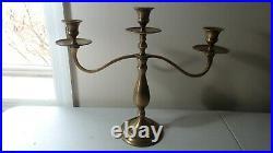 7 Vintage Brass Candlestick Holders Wedding Decor Candelabra 7 TO 12 BC-7