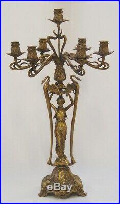9973567-dss Chandelier Candle Holder Splendour Candelabra Brass 7-flammig H50cm