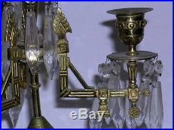 Aesthetic Movement Candleabra With Longwy Porcelain