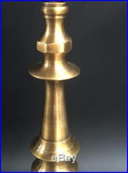 Amazing Brass Copper XXL 22 Hanukkah Menorah Candle Holder Hanukia Judaica