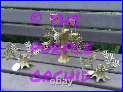 Anthropologie Arden Taper Candle Holder NWT fir candelabra & two fir tapers