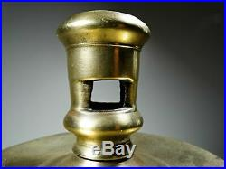 Antique 16th \ 17th Century Solid Brass Capstan Candlestick