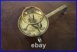 Antique 19th century French Brass Candlestick Pricket Stick Altar Candle Holder