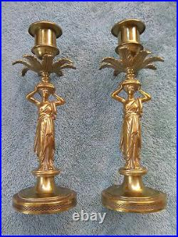 Antique Brass Candle stick holders