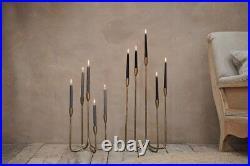 Antique Brass Cluster Candelabra, 5 Candle Stick Holder, Gold Nkuku Mbata, Large