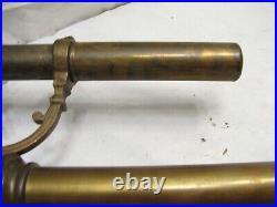 Antique Brass Pushup Candlestick Push Up Candle Holder Candelabra Crystals