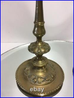 Antique Bronze/Brass Art Nouveau Victorian Candlestick/Candleholder