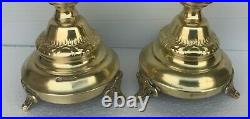 Antique English candlesticks pair tall and wonderful
