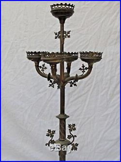 Antique French Brass Candle Stand Fine Quality