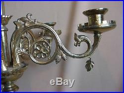 Antique French Gilded Bronze / Brass 6-light Candelabra 23 Inch