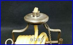 Antique Italian Brass Wax Jack Chamber Stick Candle