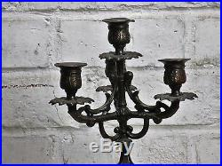 Antique Jugendstil Gorgeous Brass Ornate Candle Holder Candelabra 5 arm