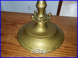 Antique Large Brass 7 Arm Branch Menorah Candelabra Candle Holder