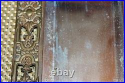 Antique Neo Classical Wall Mirror Candle Holder Koi Fish Brass Metal