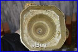 Antique Ornate Heavy Brass Candelabra 4 Arm 5 Cup Candle Holder Centerpiece