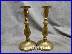 Antique Pair of 18th Century Brass Candlesticks