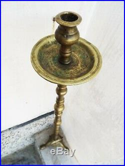 Antique Russian Church Candle Holder Brass 19th century