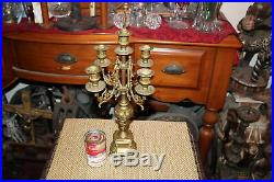 Antique Victorian Style Candelabra Candlestick Holder Holds 5 Candles #2 Brass