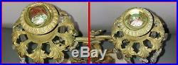 Antique Vintage Victorian 19th C. Lady Sultan Brass Bronze Girandole Candelabra