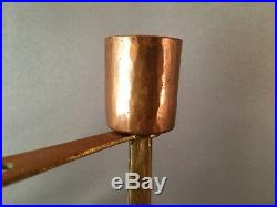 Antique Wmf Secessionist / Arts & Crafts Copper & Brass Candle Holder C1900-20