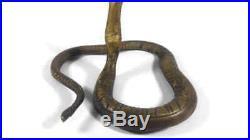 Antique brass cobra candlestick snake candelabra candle holder handmade ship