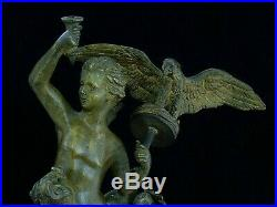Antique large beautiful Bronze / Brass CANDLESTICK Old European