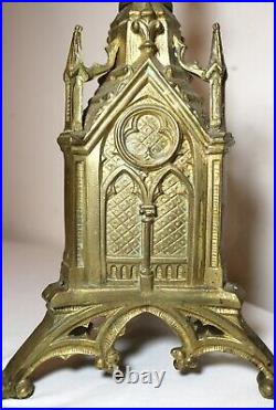 Antique ornate brass religious altar candlestick church cathedral candle holder