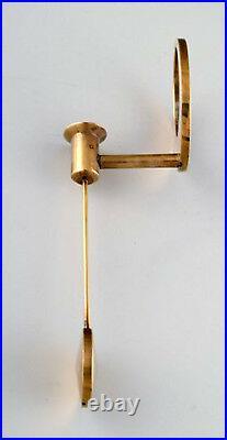 Arthur Pe for Kolbäck. A pair of modernist candlesticks in brass. 1950s