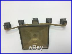 Arts & Crafts Period B&H Bradley Hubbard Copper Brass Candle Holders Candelabra