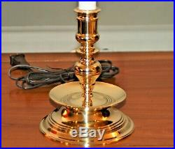 BALDWIN BRASS LAMP Candlestick Candle Holder Colonial Williamsburg 4-J