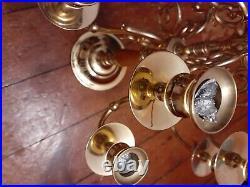 BEAUTIFUL Large 13 Candle 12 Arm Brass BALDWIN CANDELABRA Very Nice