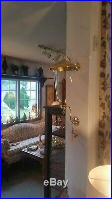 Baldwin Brass Bruton Candle Sconce with Brass Smoke Bell RARE