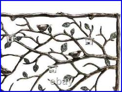 Bird And Branch Leaf Votive Candleholder Fireplace Fire Screen Bronze Finish