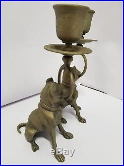 Boxer Dog French bulldog Candlesticks Brass bronze rottweiler pug Italy American