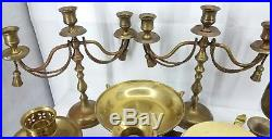 Brass Candlesticks Lot Mix of Heights & Sizes Wedding Decor Bridal Event 33 Lot