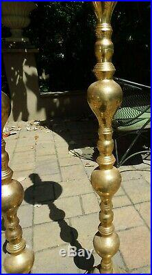 Brass Pair of 60 Tall Large Church Candlesticks Candle Holders James Quality