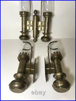 Brass Single Double Candle Sconce Holder Wall Mount Lamp Light RailRoad Train